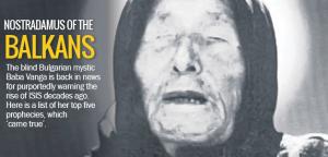 Article de presse anglaise sur Baba Vanga la Nostradamus des Balkans