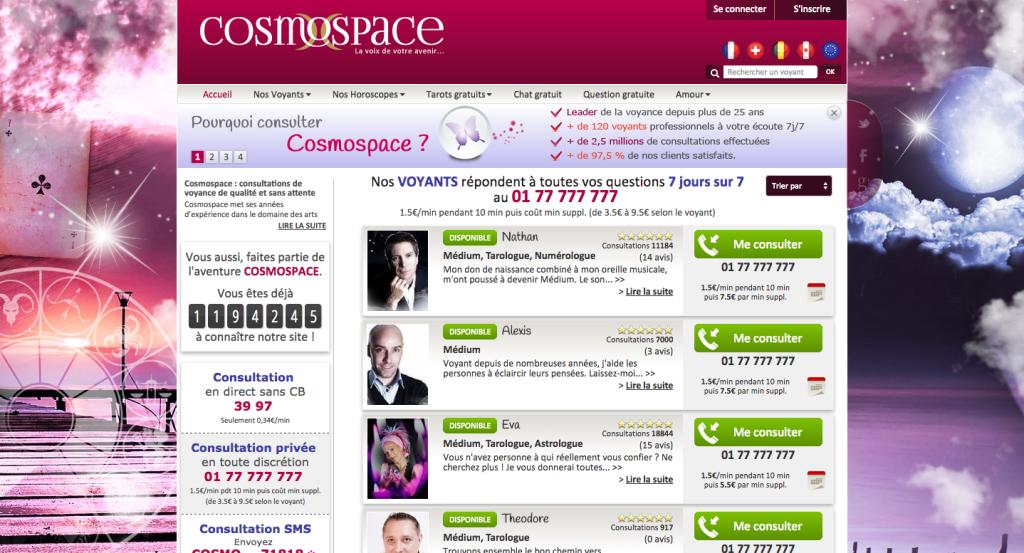 Cosmospace   avis et revue détaillée par SOSvoyants (site 100 ... ce26e9fe72fb