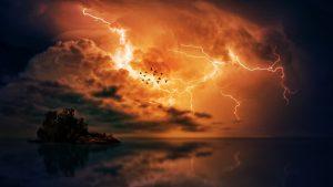 Significations de rêver d'éclairs d'un orage