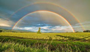 Signification de rêver de pluis de soleil et d'arc en ciel